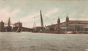 Royal Naval Dockyard, Bermuda - The floating dry dock Bermuda at HM Dockyard Bermuda