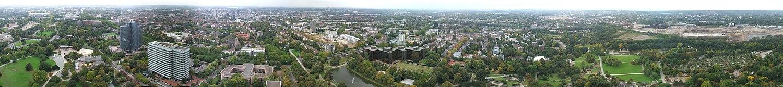 Вид с телевизионной башни в Дортмунде