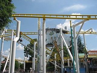 Flying Super Saturator roller coaster