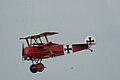 Fokker Dr.I Manfred Richthofen Pass two 05 Dawn Patrol NMUSAF 26Sept09 (14413495617).jpg