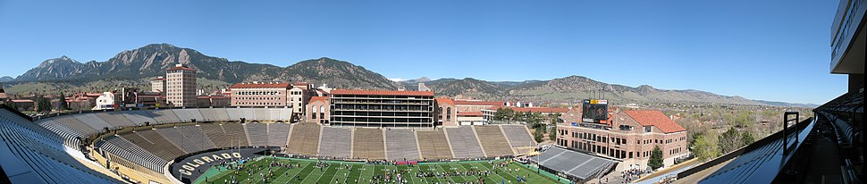 Folsom Field panorama from club level seats 2007