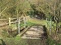 Footbridge in Adam's Well - geograph.org.uk - 1736736.jpg