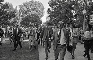 Gerald Ford assassination attempt in Sacramento - Ford being rushed by U.S. Secret Service from the site of the 1975 attempt on his life in Sacramento, California
