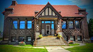 Platteville, Wisconsin - Former Carnegie library building