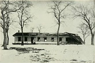 Fort Crawford - Ruins of the Fort Crawford hospital, 1903. This building was reconstructed and is now used as a museum.