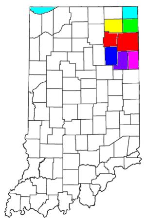 Fort Wayne, IN Metropolitan Statistical Area - Image: Fort Wayne Huntington Auburn CSA