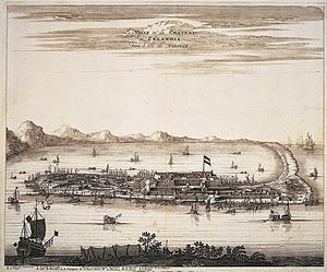 Fort Zeelandia (Taiwan) - 17th century print of Fort Zeelandia