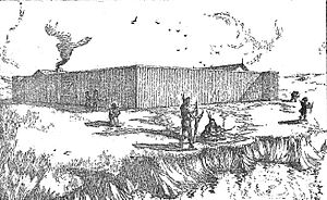 Manuel Lisa - Sketch of Fort Lisa, North Dakota.