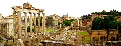 The Roman Forum was the central area around which ancient Rome developed.