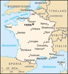 kart over frankrike Fransk geografi – Wikipedia kart over frankrike