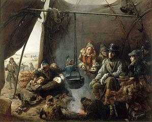 Le duc d'Orléans reçu dans un campement de Lapons, août 1795