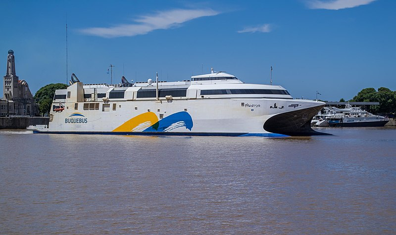 Ferry boat from Montevideo to Buenos Aires