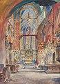 Franciszek Turek Wnętrze Kościoła Mariackiego w Krakowie 1921.jpg