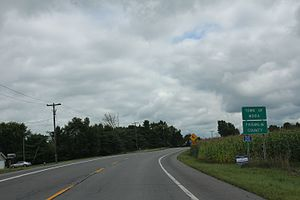 Franklin County, New York - Entering Franklin County on US11 in the Town of Moira