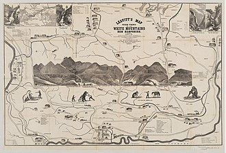 White Mountains (New Hampshire) - Map of the White Mountains, Franklin Leavitt, 1871