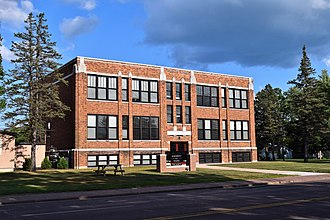 National Register of Historic Places listings in Barron County, Wisconsin - Image: Franklin School, Rice Lake, WI