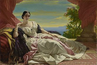 Russian nobility - Portrait of Princess Leonilla Bariatinskaya, by Franz Xaver Winterhalter.