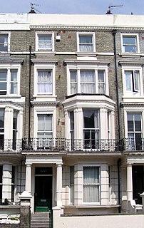 a road in Kensington, London