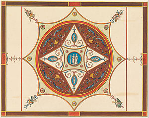 Frederick Crace - Design for a Painted Ceiling by Frederick Crace, 1815–22, at the Cooper-Hewitt, National Design Museum
