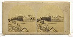 Frith, Francis (1822-1898) - Views in Egypt and Nubia - n. 346 - River wall and south end of Philae.jpg