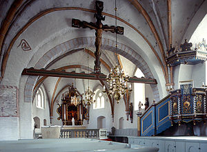 Fru Alstad Church - Interior view towards the choir