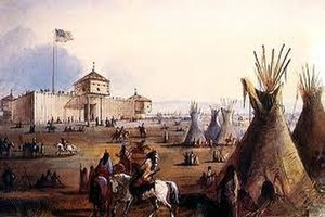 Wagluhe - In 1849, Old Chief Smoke moved his Wágluȟe camp to Ft. Laramie, Wyoming.