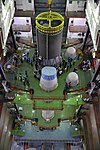 GSLV Mk III D2 upper stage C25 being integrated to L110 core stage in Vehicle Assembly Building VAB.jpg