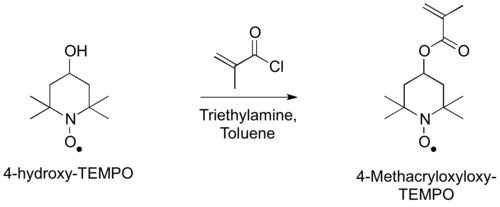 Synthesis of 4-Methacryloxyloxy-TEMPO Monomers