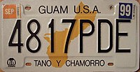 GUAM 1999 COMMERCIAL TRUCK license plate Flickr - woody1778a.jpg