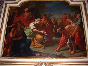 Cagli Cathedral - Gathering of Manna by Gaetano Lapis