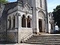 Gaillères (Landes, Fr), porche de l'égise.JPG