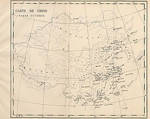 Père Louis Gaillard - Map of open ports in China in 1898