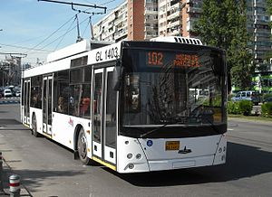 Galati MAZ trolleybus 1403