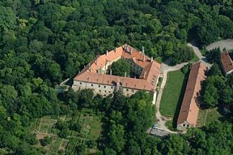 Hlohovec - Aerial photography of the castle