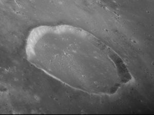 Gambart (crater) - Oblique view of Gambart from Apollo 12