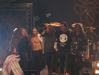 Gamma Ray (band) - Gamma Ray after a show in Barcelona, Spain.