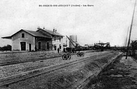 L'ancienne gare vers 1900.