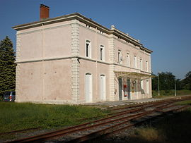 The former railway station of Bessèges