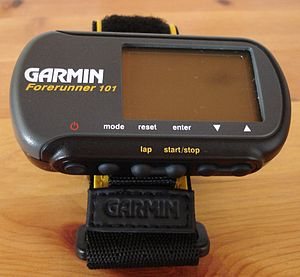 Garmin Forerunner 101 personal running trainer with GPS.