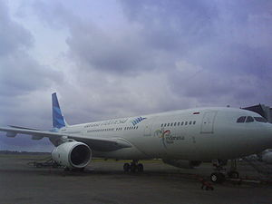 Garuda Airbus A330-200 in the new livery