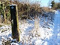 Gate post, Faulston Farm - geograph.org.uk - 1650717.jpg