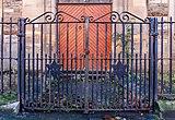 Gate to Langside Synagogue, Glasgow, Scotland.jpg
