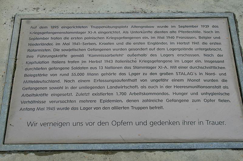 Gedenkstätte Kriegsgefangenenlager STALAG XI-A - Bodenplatte
