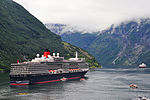 Geirangerfjord with Cunards Queen Elizabeth (6006701616).jpg