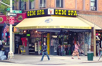 """8th Street and St. Mark's Place - Gem Spa has been the """"corner store"""" for locals for approximately 80 years"""
