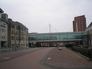 Houten - Town hall and station in Houten