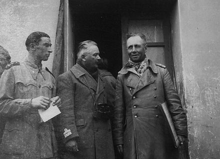 Generals Gastone Gambara and Rommel in the Autumn of 1941 General Gambara and Rommel.jpg