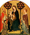 Gentile da fabriano, Madonna with Child and St Catherine, St Nicolas and Donor.jpg