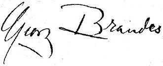 Georg Brandes - Image: Georg brandes signatur liten