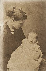 Photo of Julia Duckworth with her first son George in 1868